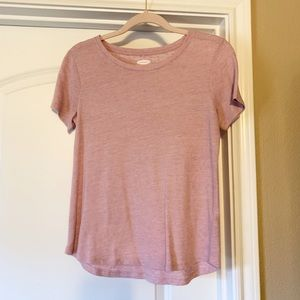 Super soft pink tee - old navy